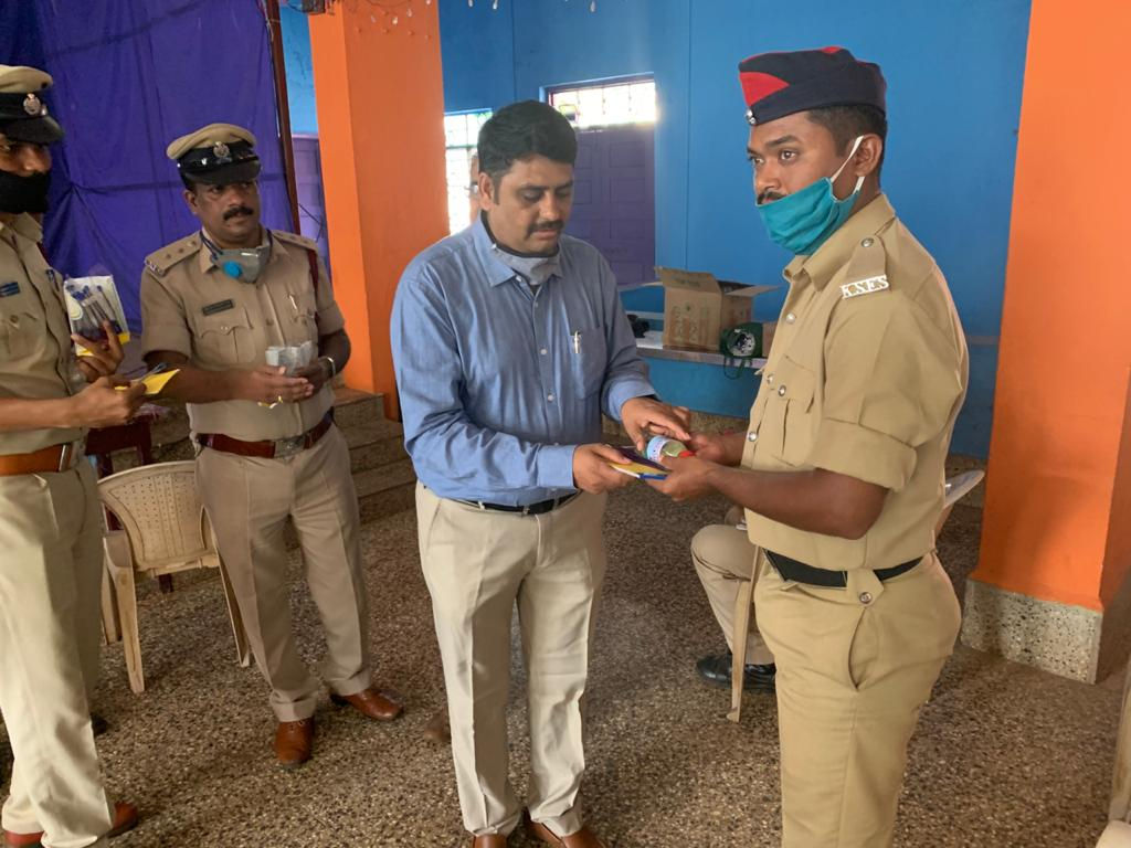 Distribution of Sanitizer, Masks, Note Books, and Pens to Home Guards